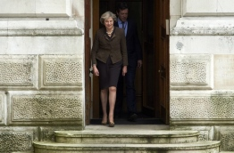 British Prime Minister Theresa May announced earlier this month her government will trigger those negotiations by the end of March, putting the country on course to leave the EU by early 2019. / AFP PHOTO / NIKLAS HALLE'N