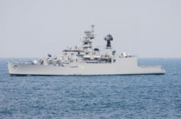 INS Betwa, the Indian frigate that assisted in stopping the freighter MV Progress Light commandeered by Sri Lankan mercenaries after the coup on November 3, 1988.