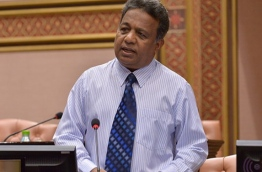 Eydhafushi MP Ahmed Saleem speaks at parliamentary session. PHOTO/MAJLIS