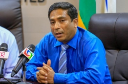 Lawmaker of North G.Dh Thinadhoo Constituency Saudhullah Hilmy. PHOTO:Nishan Ali/Mihaaru