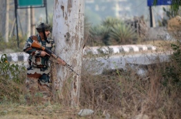 Armed militants attacked an Indian army base near the Pakistan border early November 28, killing two soldiers. / AFP PHOTO / STRINGER