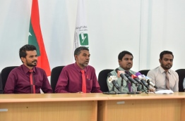 some members of Elections Commission PHOTO:Mohamed Sharuhaan/Mihaaru