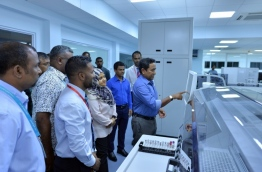 President Yameen launching new services in IGMH PHOTO:President Office