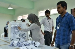 Counting of votes during a previous local election.