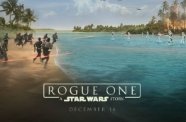 """The first promotional poster of """"Rogue One: A Star Wars Story"""" featuring the Maldives, which was the shooting location for the fictional tropical planet """"Scariff"""" in the Star Wars galaxy."""