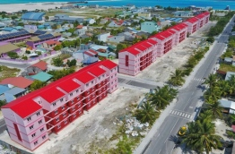 Aerial view of completed flats in G.Dh. Thinadhoo.