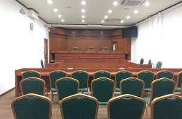 One of the court rooms at the Criminal Court. MIHAARU FILE PHOTO/MOHAMED SHARUHAAN