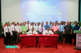 PSM and Islamic Ministry signing in the agreement to make Islamic TV channel