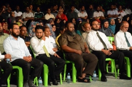 Members of Adhaalath Party at a rally of Maldives United Opposition. PHOTO/ADHAALATH PARTY