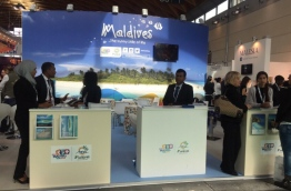 A Maldives' stall at a travel and tourism fair. PHOTO/MMPRC