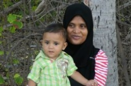 Afiya pictured with her son Ibthihaal.
