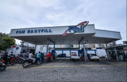 FSM Petrol Shed in Male City. FILE PHOTO/MIHAARU