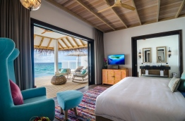 An interior view of one of the bedrooms in Finolhu Resort. PHOTO/FINOLHU RESORT