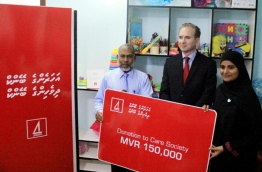 BML donates MVR 150,000 to Care Society to aid children and people with special needs. PHOTO/BML