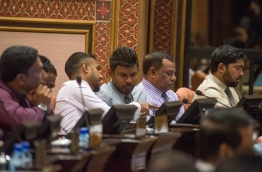 Lawmakers pictured during a parliament sitting. PHOTO/MAJLIS