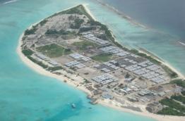 Aerial view of R. Dhuvaafaru.