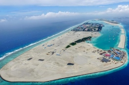 Aerial view of Hulhumale's second phase of development. PHOTO/HDC