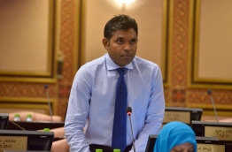 Kaashidhoo MP Faisal Naeem pictured in a parliament sitting. PHOTO/MAJLIS