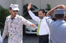 Sheikh Imran Abdulla leaves the High Court after his final appeal hearing. PHOTO/MIHAARU