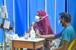 A patient consulting at IGMH's flu clinic. PHOTO/MIHAARU