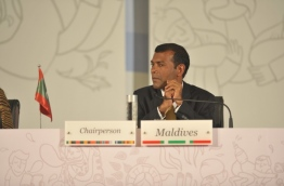 Former President Nasheed pictured at a conference. FILE PHOTO/PRESIDENT'S OFFICE