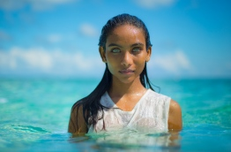 "Raudha Athif, the Maldivian model who became a sensation on social media as the ""Girl with the Aqua Blue Eyes"". PHOTO/SOTTI"