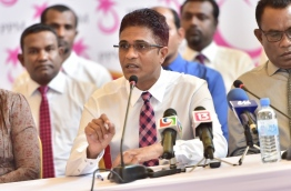 PPM PG Leader and Lawmaker of Villimale Constituency Nihan PHOTO:Mihaaru