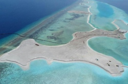 Reclaimed areas of K. Enboodhoo lagoon for Singha and Hard Rock's joint mega project to develop nine resorts.