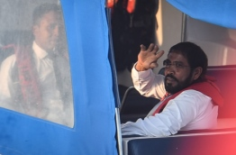 Qasim being taken back to Dhoonidhoo where he is kept in Police custody
