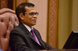 Parliament speaker Abdulla Maseeh pictured during a session. PHOTO/MAJLIS