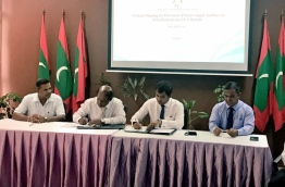 Environment ministry signs agreements to award provision of water supply in two islands, and establishment of sewerage systems in four islands to contractors.