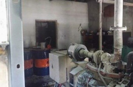 The powerhouse in G.Dh. Fiyoari after a fire broke out, killing one of its staff. PHOTO/SOCIAL MEDIA