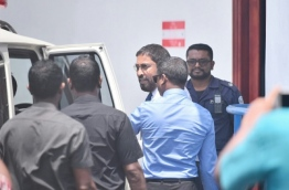 Qasim pictured after his trial on Sunday Morning PHOTO:Hussain Waheed/Mihaaru