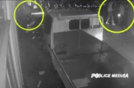 A screen grab of CCTV footage released by Police of the two suspects behind Yameen Rasheed's murder.