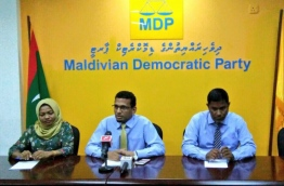 Members of MDP Health and welfare committee in a press conference