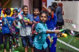 Children playing during the celebration of Children's Day 2017 at Majeedhiyya School. PHOTO: NISHAN ALI/MIHAARU