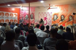 The rally held by PPM and MDA at their new campaign hub