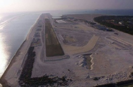 Aerial view of domestic airport developed in Dh. Kudahuvadhoo. PHOTO/DHAALU AIRPORT