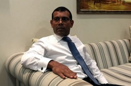 Former President Mohamed Nasheed pictured at the airport in Sri Lanka. PHOTO/TWITTER