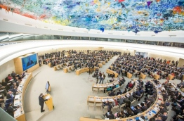 Delegates attend a session of United Nations Human Rights Council on June 6, 2017 in Geneva. Fabrice COFFRINI / AFP