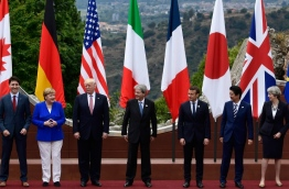 The leaders of Britain, Canada, France, Germany, Japan, the US and Italy will be joined by representatives of the European Union and the International Monetary Fund (IMF) as well as teams from Ethiopia, Kenya, Niger, Nigeria and Tunisia during the summit from May 26 to 27, 2017. / AFP PHOTO / Miguel MEDINA