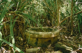 An old well in the former leper colony at G.A. Funadho. PHOTO/AISHATH NAJ