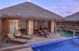 A water villa at Cocoon Maldives resort. PHOTO: HUSSAIN WAHEED/MIHAARU