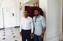 MP Mahloof with former President Mohamed Nasheed