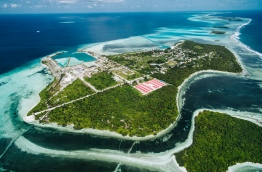 Aerial view of Horizon Fisheries Complex and Chinese flats, G.Dh. Hoandedhoo. PHOTO/AISHATH NAJ