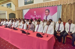 PPM/MDA joint press conference PHOTO:Hussain Waheed/Mihaaru