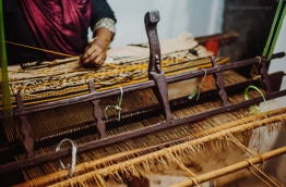 Mat-weaving in GDh Gaddhoo. PHOTO/AISHATH NAJ