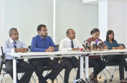 Press conference held by Nasheed's lawyers PHOTO:Hussain Waheed/Mihaaru