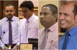 Composite image of four lawmakers formerly of PPM (L-R): Ameeth, Waheed, Saud and Abdul Latheef.