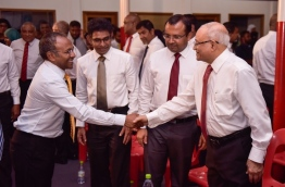 Former President Maumoon among with the top opposition leaders PHOTO:Hussain Waheed/Mihaaru
